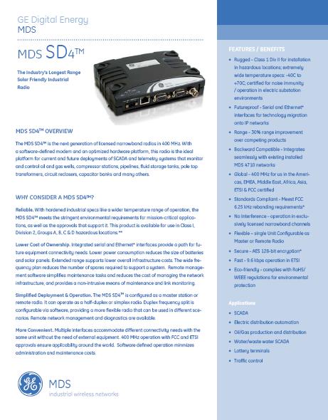 MDSSD4-specs