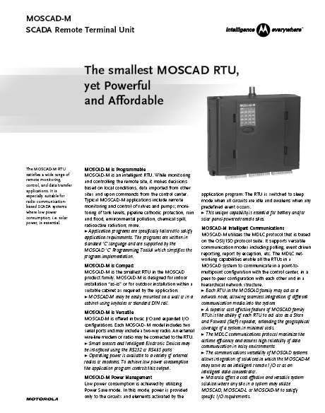 MOSCAD-M-Specs
